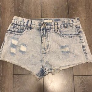 Forever 21 Acid Wash Ripped Short-Shorts